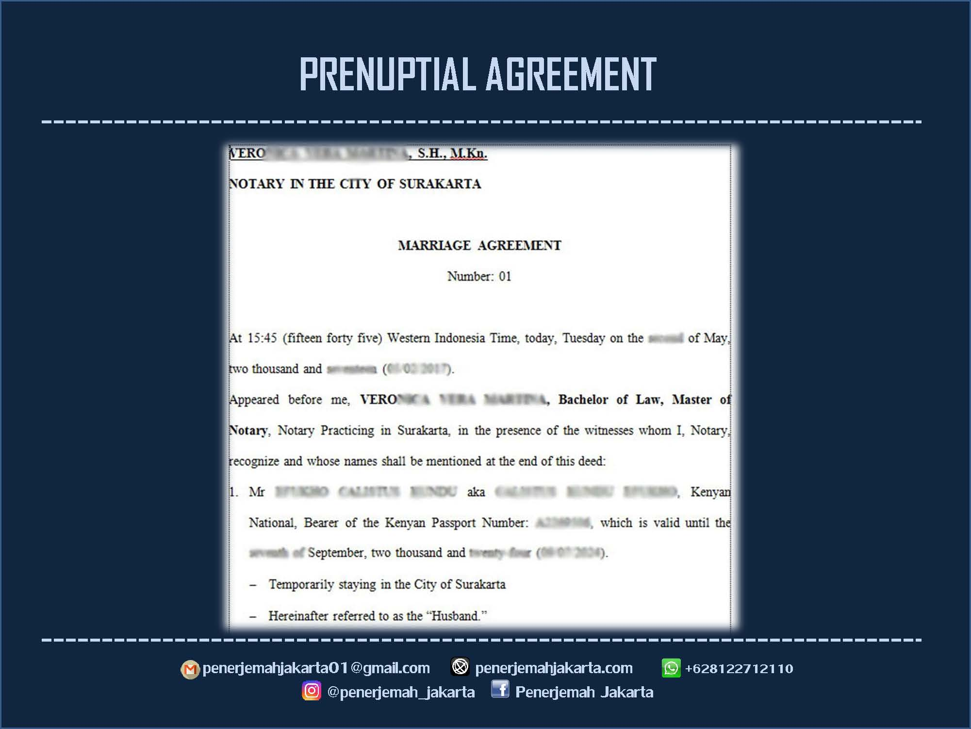 PRENUPTIAL AGREEMENT (PRENUP)