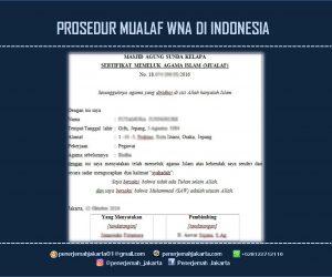 PROSEDUR MUALAF WNA DI INDONESIA