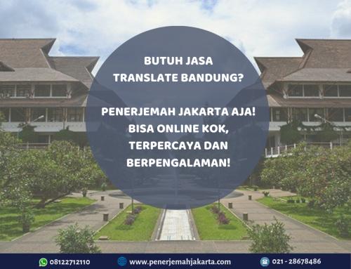 Jasa Translate Bandung