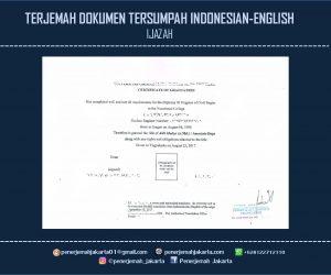 Jasa Translate Tersumpah