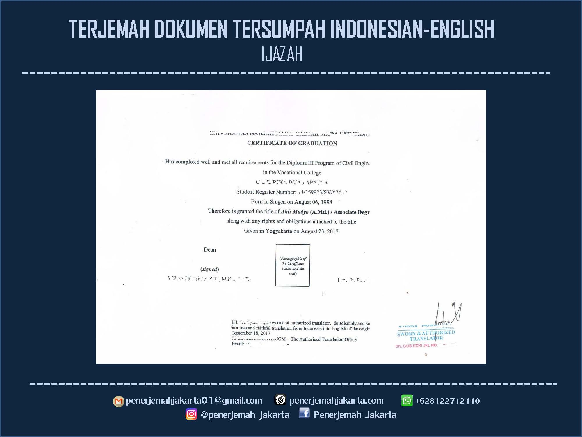Jasa Penerjemah Tersumpah Profesional