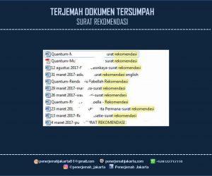 Penerjemah Surat Rekomendasi Tersumpah