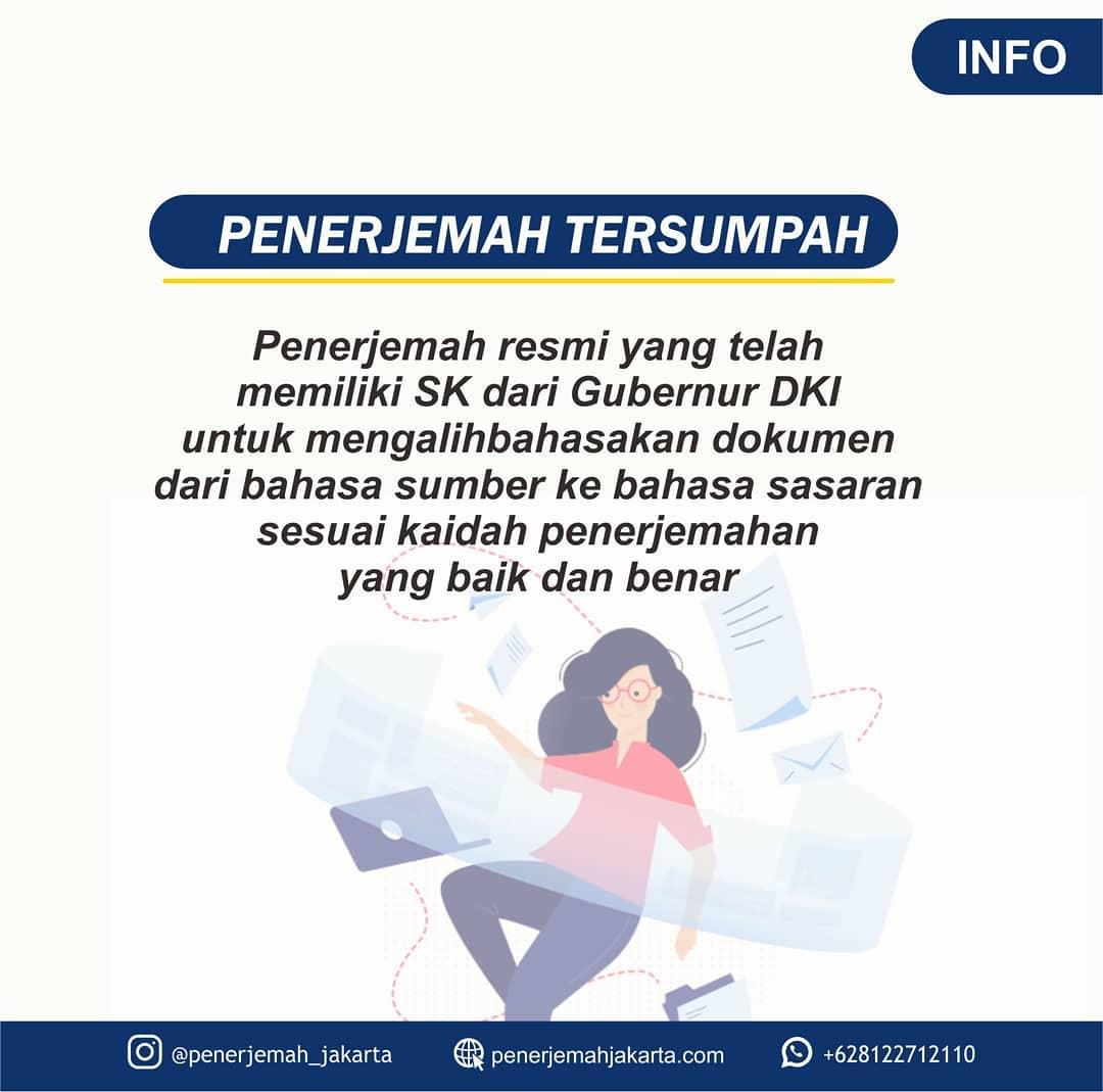 Jasa Penerjemah Tersumpah di Bandung