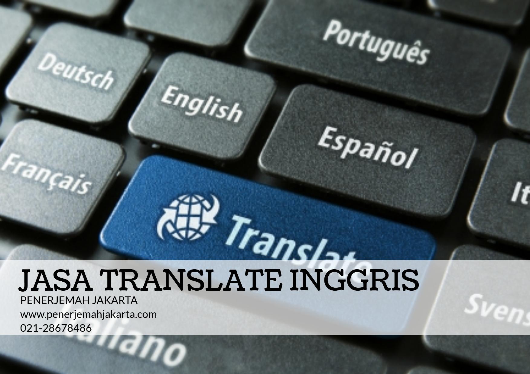 Jasa Translate Inggris