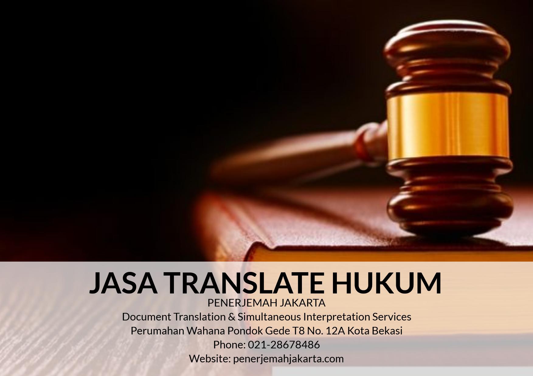 Jasa Translate Hukum