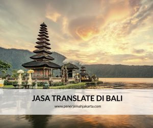JASA TRANSLATE DI BALI