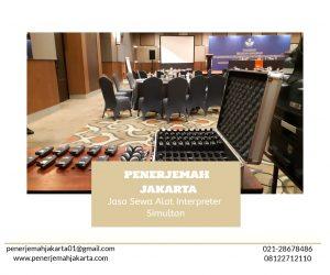 Sewa Alat Interpreter Jakarta