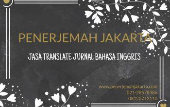 JASA TRANSLATE JURNAL BAHASA INGGRIS