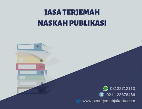 Jasa Terjemah Naskah Publikasi