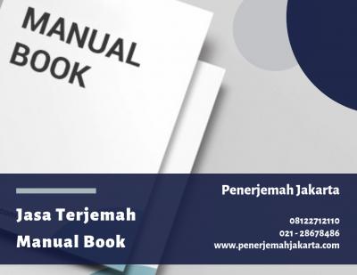 Jasa Terjemah Manual Book