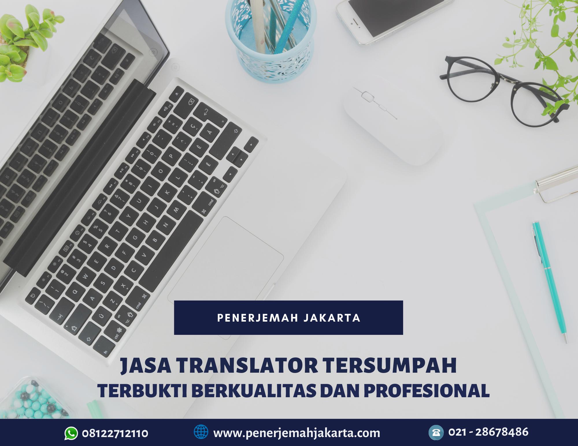Jasa translator tersumpah