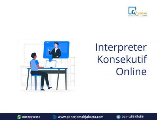 Interpreter Konsekutif Online
