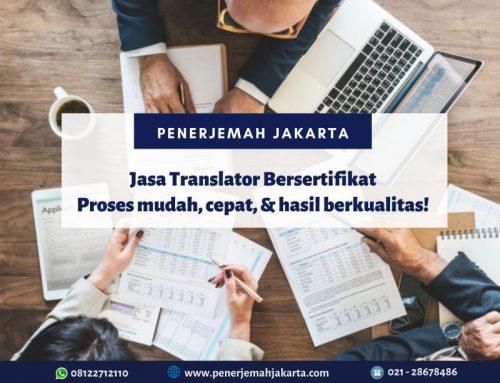 Jasa Translator Bersertifikat