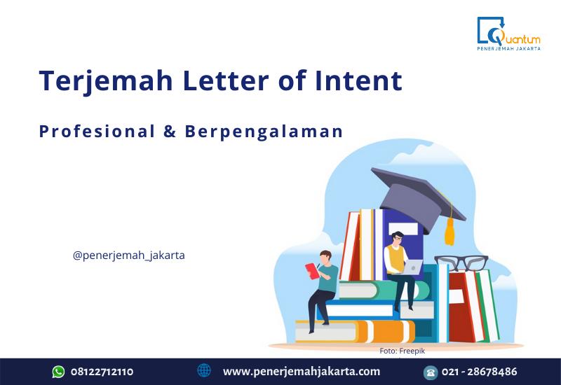 Terjemah letter of intent