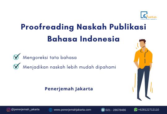 Proofreading Naskah Publikasi Bahasa Indonesia