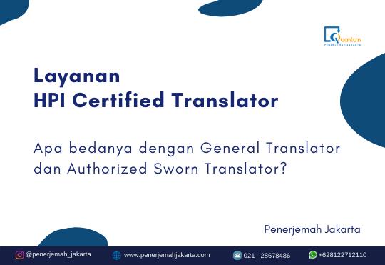 HPI certified translator