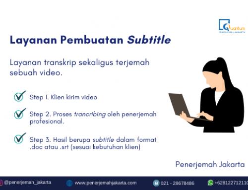 Layanan Pembuatan Subtitle