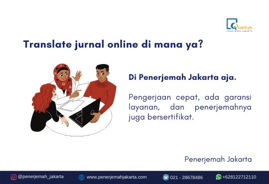 Translate jurnal online bersertifikat