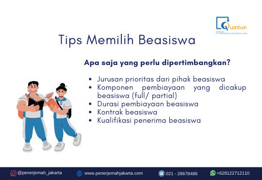Tips Memilih Beasiswa