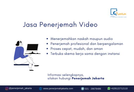 Jasa Penerjemah Video