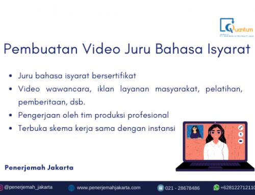 Pembuatan Video Juru Bahasa Isyarat