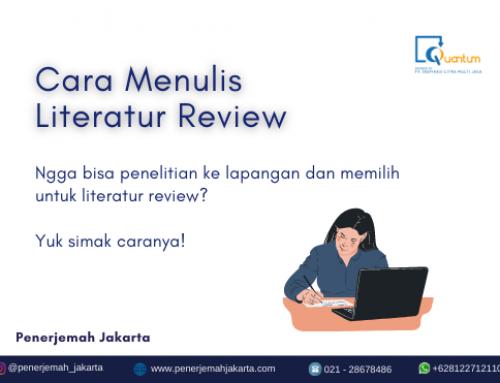 Cara Mudah Menulis Literatur Review