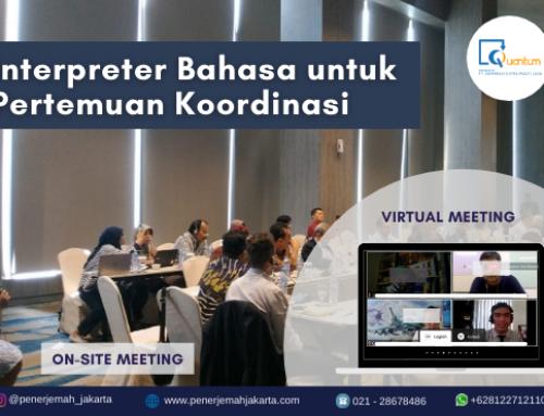 Interpreter Bahasa untuk Pertemuan Koordinasi