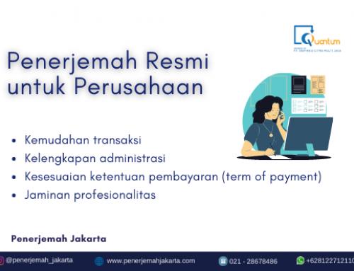 Penerjemah Resmi untuk Perusahaan