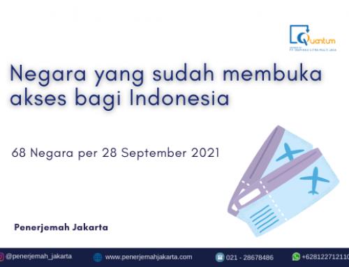 Negara yang Sudah Membuka Akses bagi Indonesia