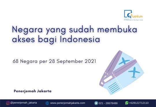 negara yang membuka akses bagi Indonesia